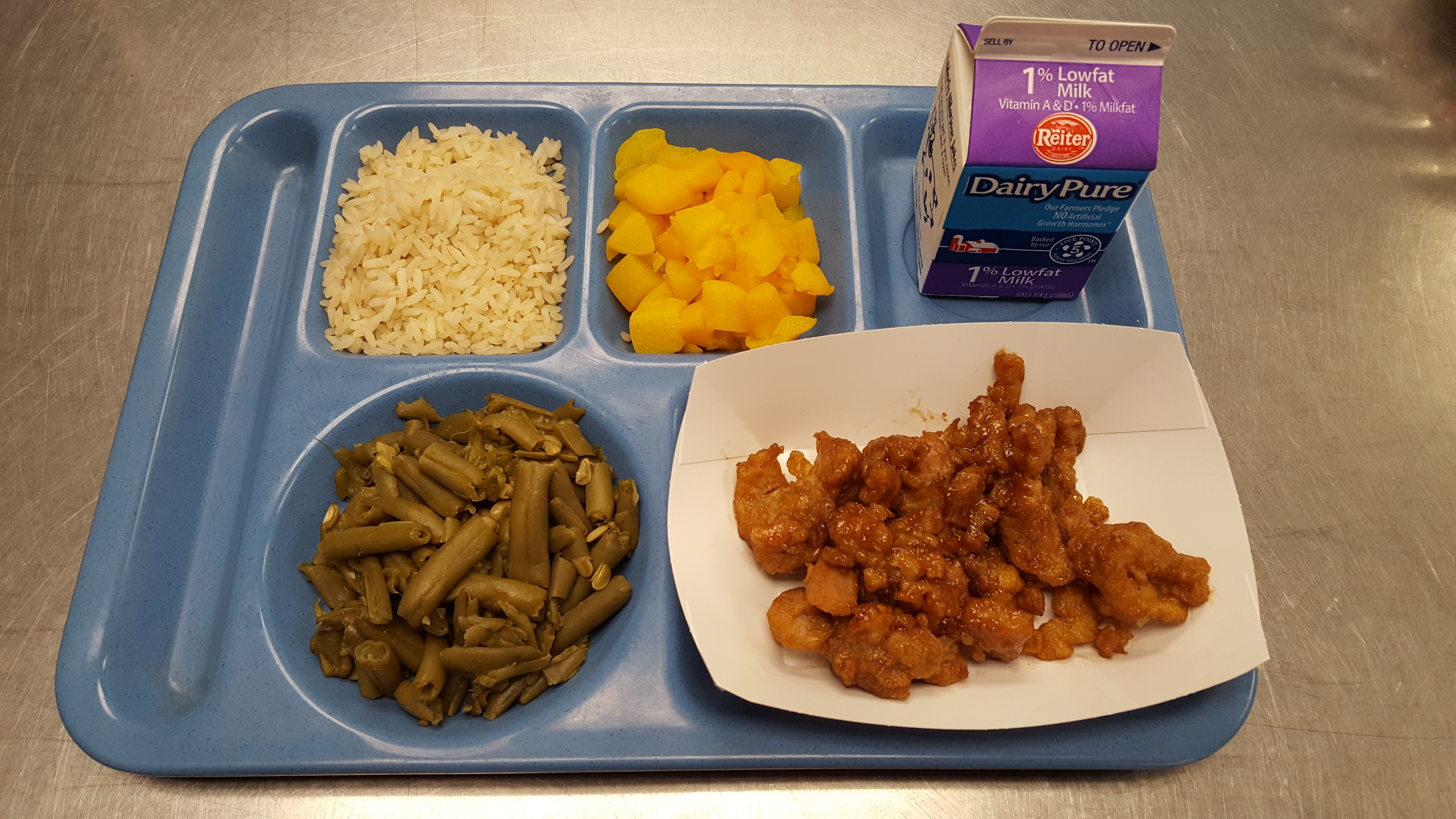 Lunch choices - E D  Smith Elementary School
