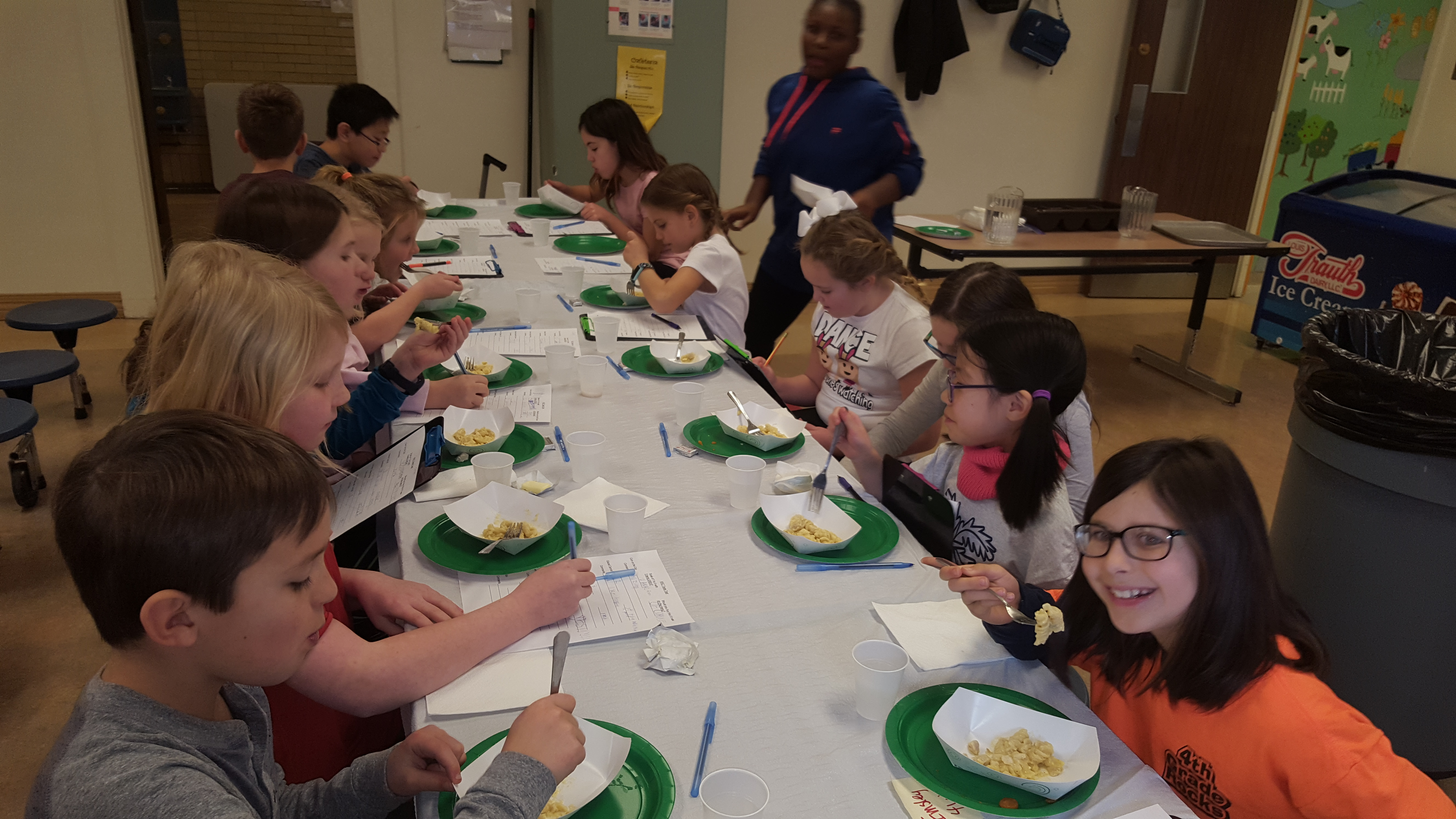 Members of the Kids' Kitchen Council helped create March's menu
